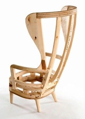 Stripped down wingback chair