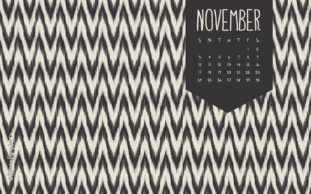 November 2013 Desktop Calendar - Bohemian Gypsy Jane