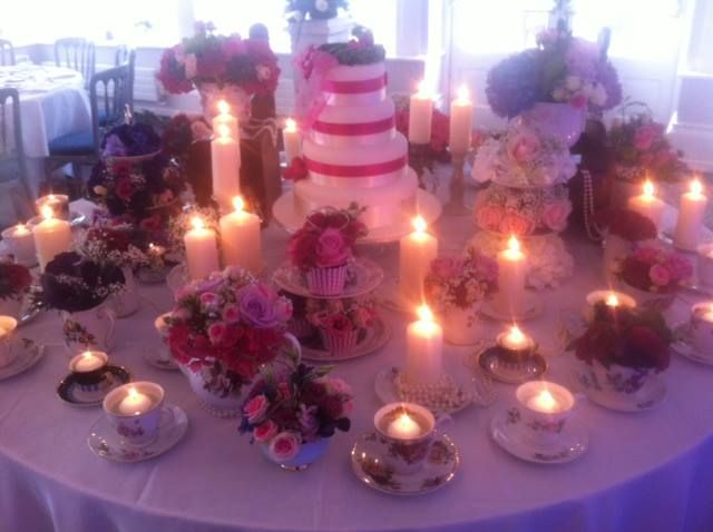 Wedding decoration with candles