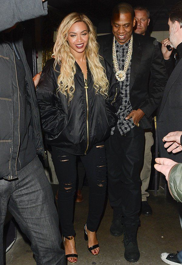 """Beyonce Loves Her """"Jay-Z Picasso Baby"""" Bomber Jacket"""