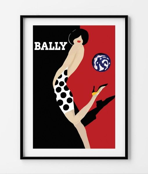 Bally Polkadot Vintage Poster- Available in different sizes