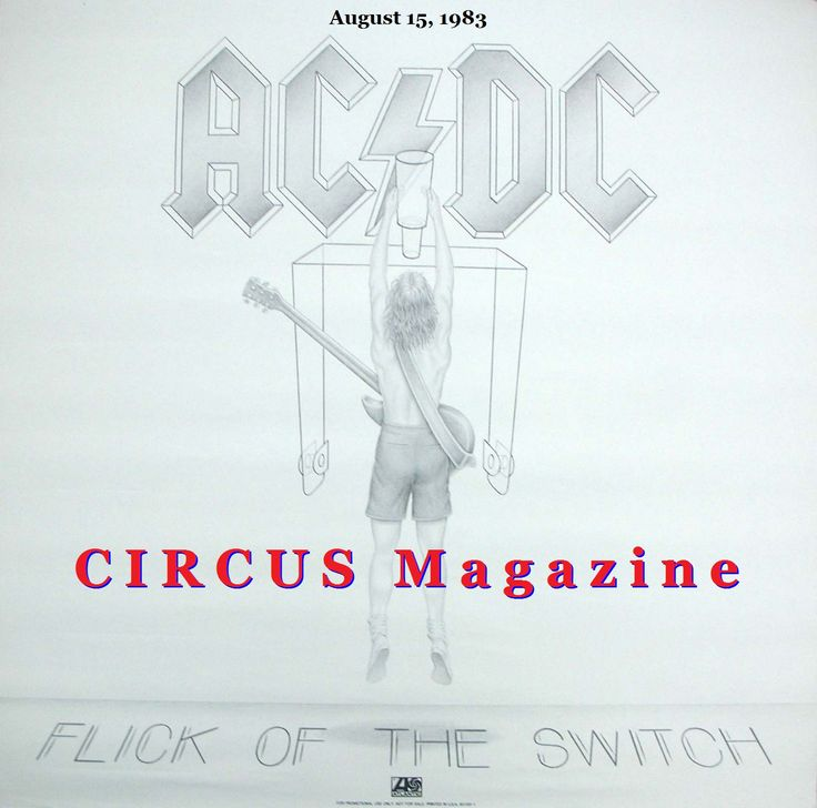 August 15, 1983:   AC/DC released their Flick Of The Switch album.  three promo videos with a 10-song audio playlist in 720pHD  Flick Of The Switch pv 480p https://youtu.be/DWKcJwuZnzE **************************** Nervous Shakedown pv 480p https://youtu.be/7yDYOFM8oaA  **************************** Guns For Hire pv 480p https://youtu.be/zuNNo_xAdzc **************************** record  https://youtu.be/fGUx320kaW0?list=PLEBfZsYEaqTf9YyrlkUcDd142Vfi5af8W **************************** #ACDC