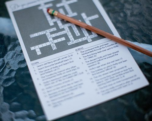 how to make a crossword in word