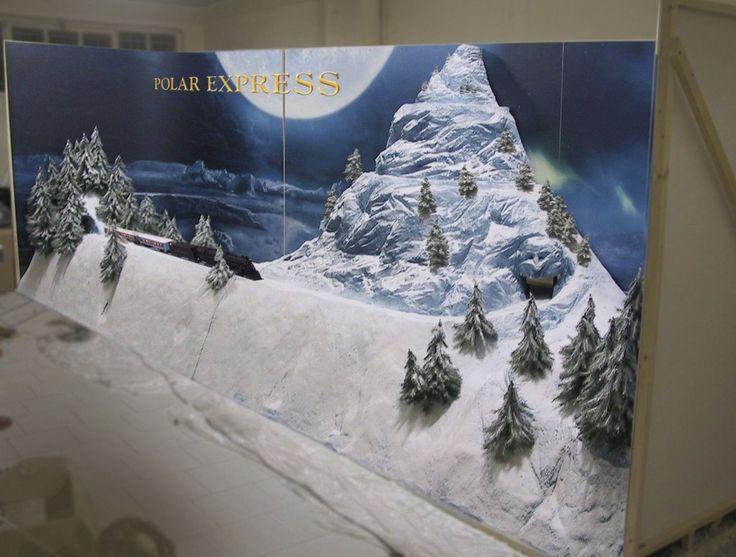 Diorama Polar Express in costruzione, Arona,  novembre 2004
