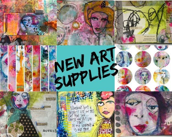 "Did someone say, ""new mixed media art supplies?"" Yep! From the creative hand of Kristin Peterson with her colorful and messy layers and her quirky, hand sketched faces comes a new collection called Woodland Fairies, which includes rubber art stamps and the ever popular Art Pops™ stickers and cards. #rubberstamps #artpops #artsupplies #mixedmedia #robenmarie #kristinpeterson…"