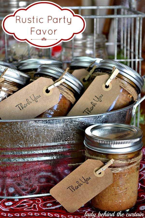 western party favors | Rustic Party Favor: Banana Bread In a Jar - Lady Behind the Curtain