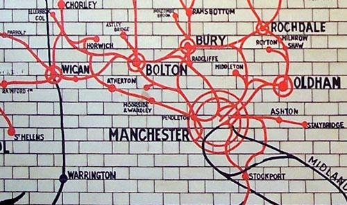 Manchester transport map