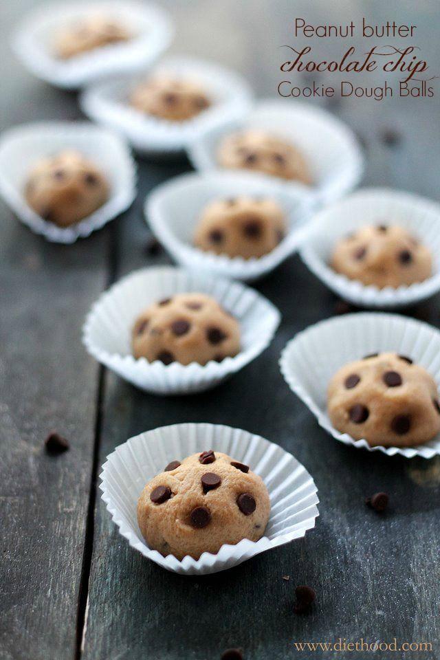Peanut Butter Chocolate Chip Cookie Dough Balls