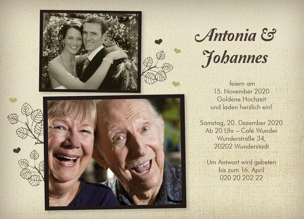 Spruch Goldene Hochzeit Einladung Einladungstext 2019 05 07