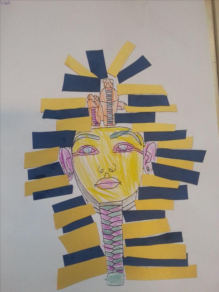 Coloriage et découpage du pharaon Toutânkhamon