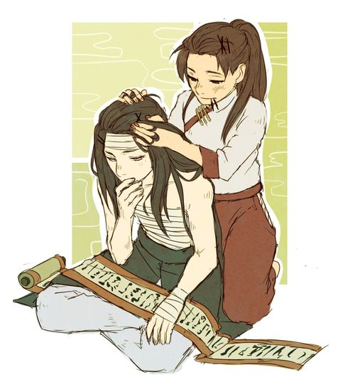 I can't see Neji styling his hair, but it always looks perfect. Now we know that…
