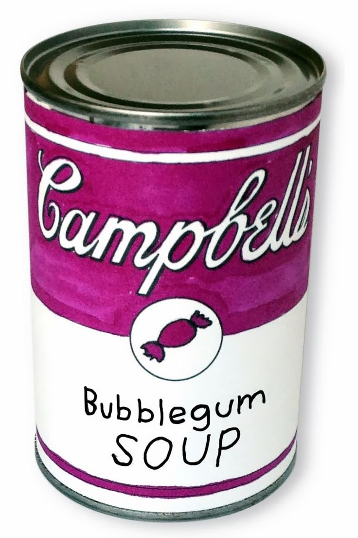 Andy #Warhol Pop art #packaging project. Design your own #soup label and wrap it on a real can. PD