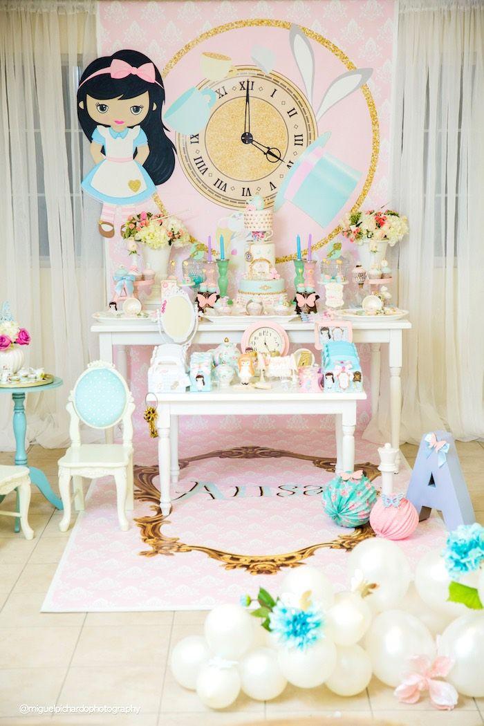 Pastel Glam Alice in Wonderland Birthday Party on Kara's Party Ideas   KarasPartyIdeas.com (48)
