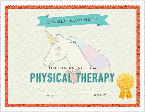 Physical Therapy Graduation Certificate Template, Girls ...