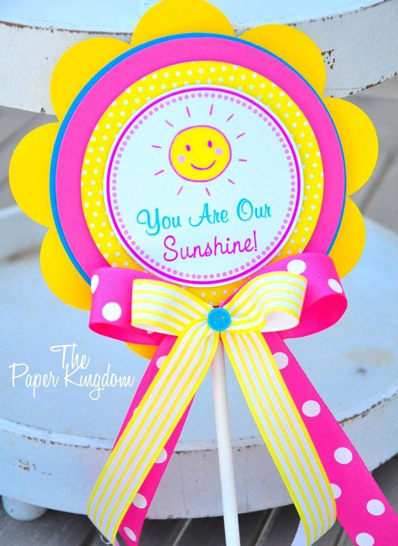 You Are My Sunshine Smash Cake Topper by thepaperkingdom on Etsy, $9.00