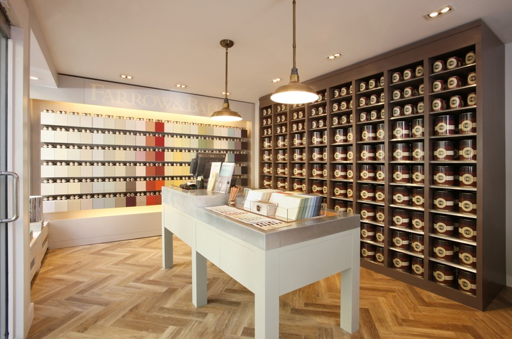 Interior of farrow ball 39 s showroom in new york 39 s upper for Interior design internships nyc
