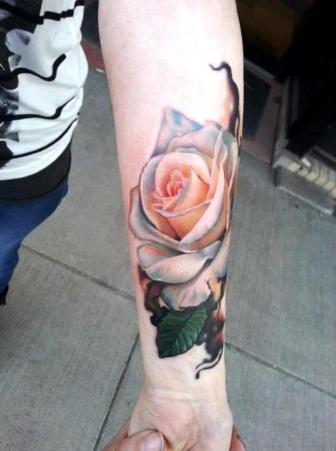 19 White Rose Tattoo