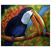 'Tropical Toucan,' painting by Dayse Diaz from Brazil