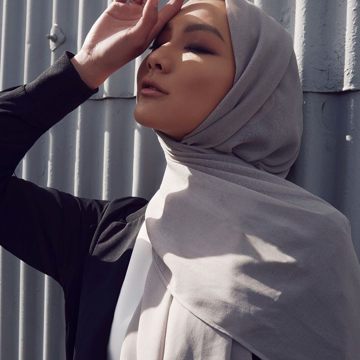 INAYAH | Workwear with flair.  Black Soft Touch Blazer with Rib  Black Soft Touch Trousers  Mid Grey Soft Crepe Hijab  www.inayah.co