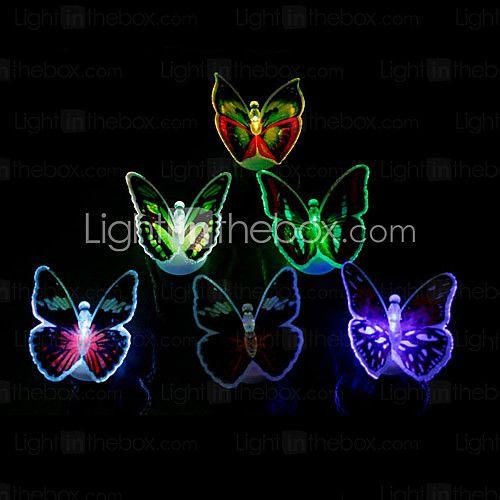 Luminous Colorful LED Butterfly Light(Random Colors)   LightInTheBox