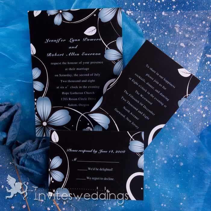 Fancy Flower Wedding Invitations IWI223 Wedding