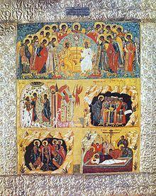 5 part resurrection icon, Solovetsky Monastery, 17th century.