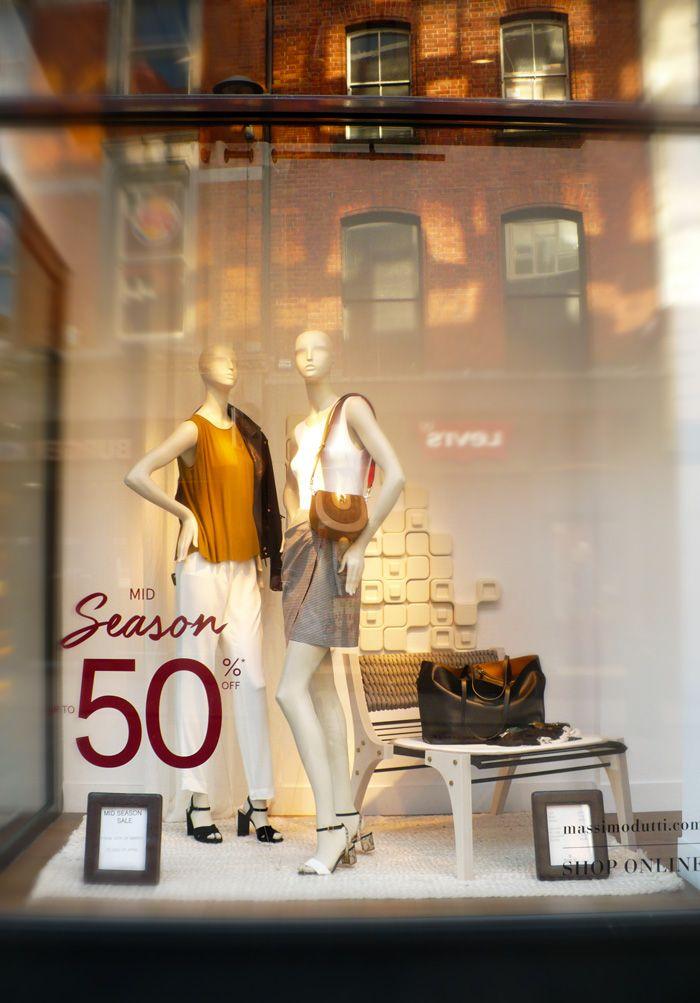 Massimo Dutti window display on Grafton Street, Dublin