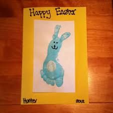 Easter Craft For Kids Use Childs Footprint The Bunnys Body And Thumb Prints Ears