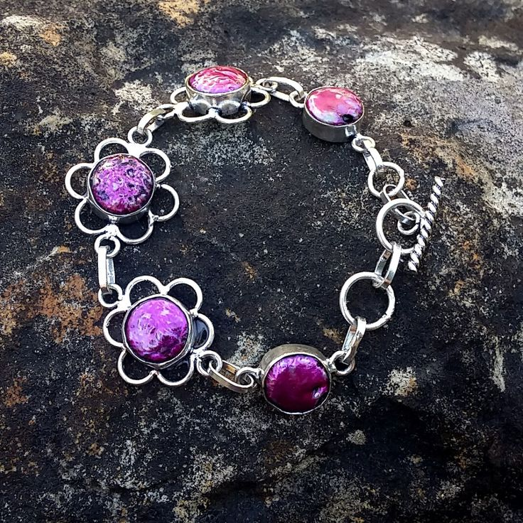 Hand Crafted Pink and Purple Biwa Pearl Bracelet