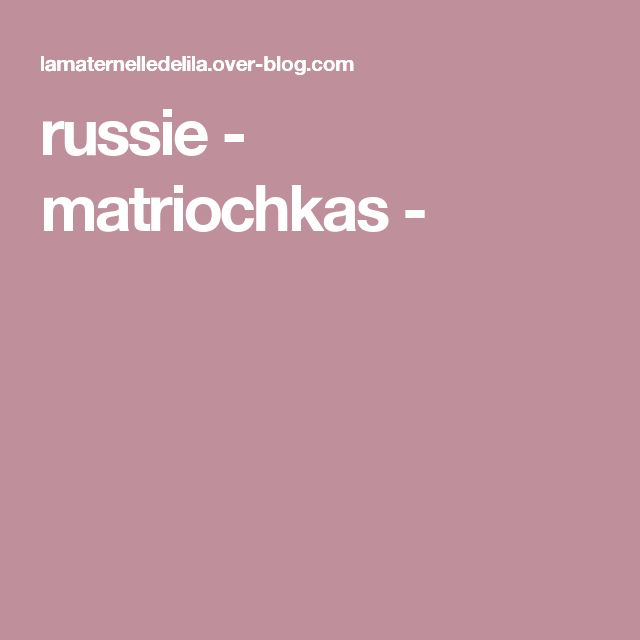 russie - matriochkas -