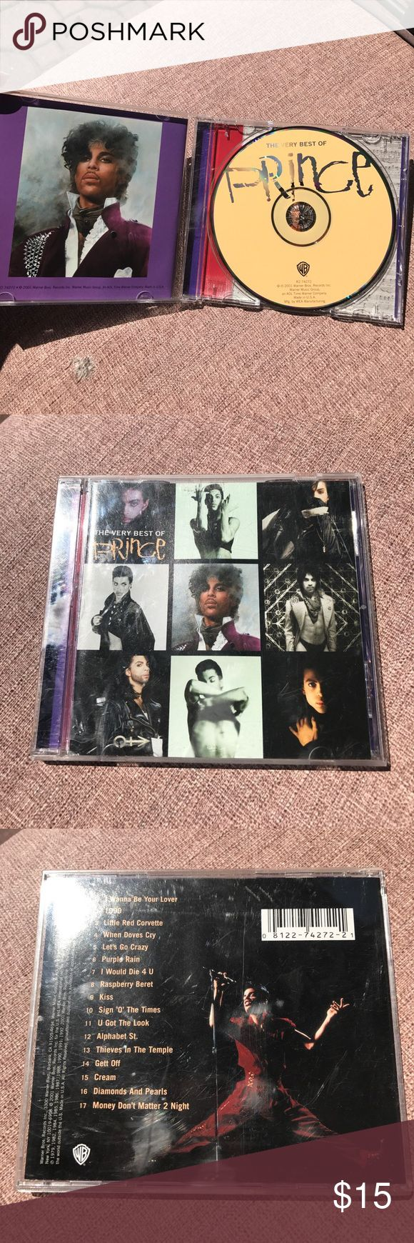 2001 THE VERY BEST OF PRINCE CD 2001 THE VERY BEST OF PRINCE CD- The CD inside is in new condition. No scratches or finger prints. Other