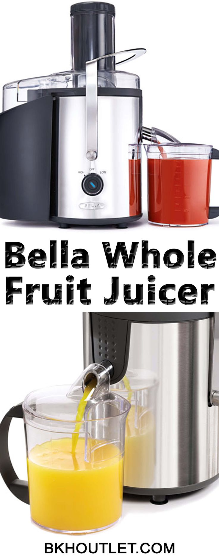 Life's just too short to chop fruit, so the new Bella High Power Whole Fruit Juicer is an absolute must, when it comes to 'the nutrition delivered how you want it' stakes. │kitchen appliances │blender │coffee maker │hot plates │kettles │mixers │slow cookers │steamers │toasters │kitchen tools #kitchenappliances #blender #coffeemaker #hotplates #kettles #mixers #slowcookers #steamers #toasters #kitchentools
