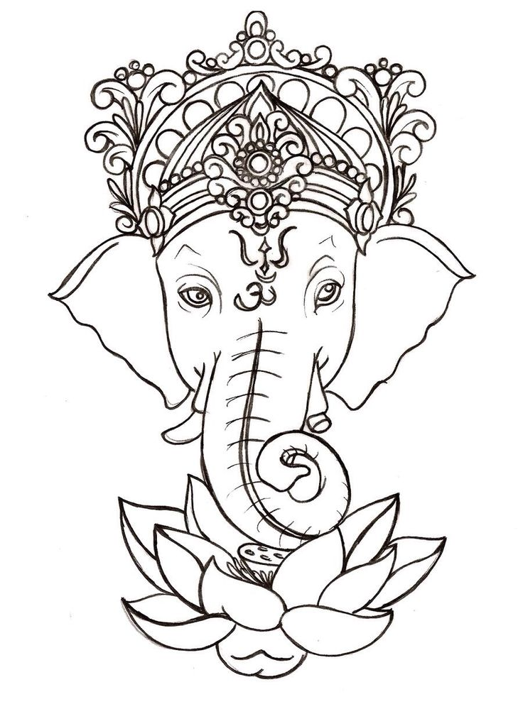 "Ganesh tattoo. He is believed to be the of ""Removing Obstacles"" I want one!"