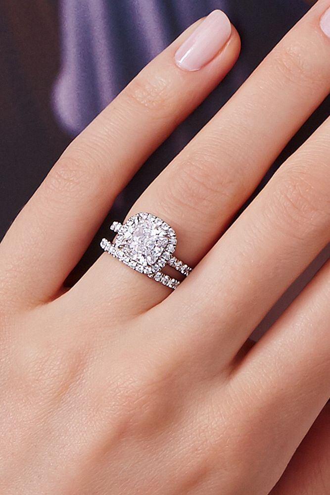 18 Gorgeous Harry Winston Engagement Rings ❤️ harry winston engagement rings cushion cut wedding set halo pave band ❤️ More on the blog: https://ohsoperfectproposal.com/harry-winston-engagement-rings/