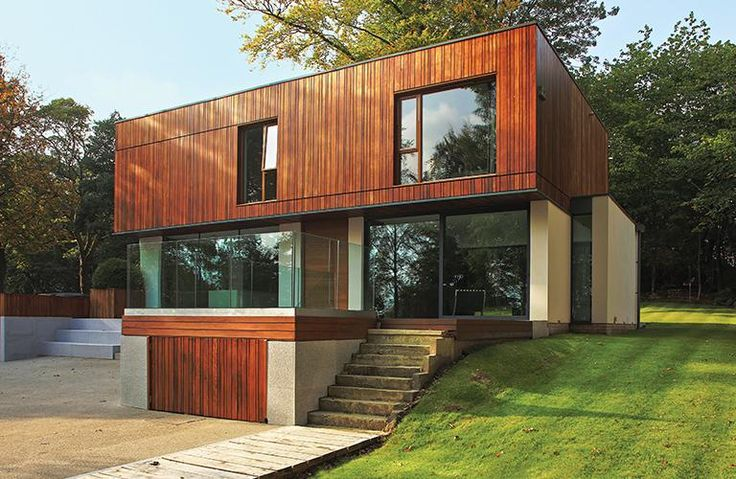 Contemporary home with integral garage built onto a sloping plot