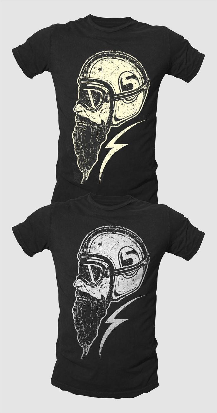 Shirt design concepts - Speed Racer Inspired Graphic Tee By Guruntool For Bl O A Black And White Vintage Biker T Shirt Illustration
