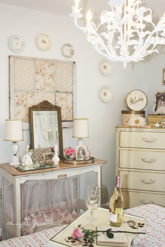 Thoughts from Alice: Apartment & Townhouse Living: Romantic Cottage Chic Bedroom Makeover