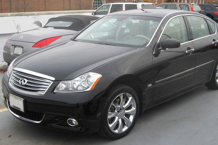 """The 2009 Infiniti M is another top sedan between $20,000 to $25,000 according to Consumer Reports, with the publication saying """"the Infiniti M is reliable, luxurious, and fun to drive, whether its powered by the strong V6 or snorting-bull V8."""" Pictured is a 2008 Infiniti M35X in College Park, Maryland."""