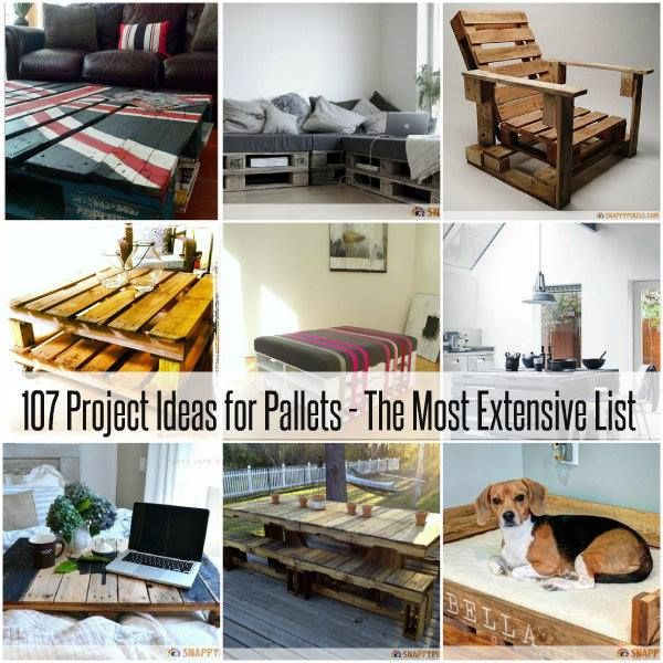 107 Pallet Projects And Ideas Don't love all the ideas but some of them are really great