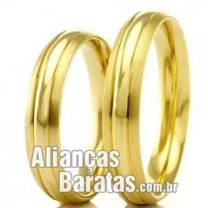 alianças de noivado baratas em ouro