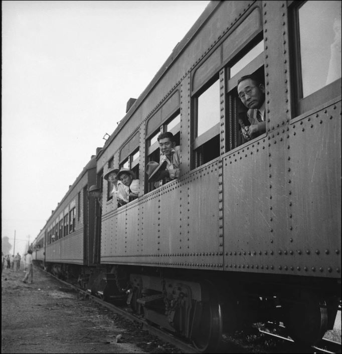 Photograph of Japanese Internment Camp by Dorothea Lange, Woodland, California May 20, 1942