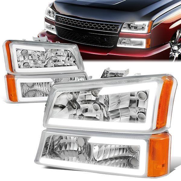 03 07 Chevy Silverado 1500 2500 3500 Avalanche Led Drl Headlights Bumper Lamp Chrome Housing In 2020 Chevy Silverado Chevy Silverado 1500 Silverado Headlights