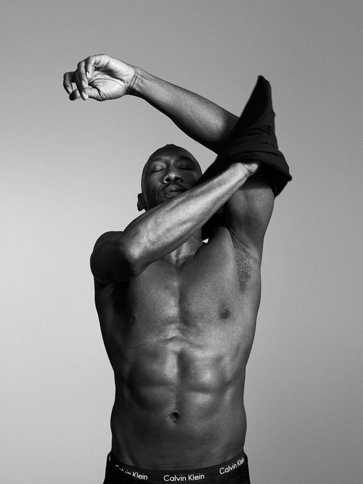 Actor Mahershala Ali wears Calvin Klein underwear and jean, January 2017 | The Men Of 'Moonlight' Are Now Calvin Klein Underwear Models | The Huffington Post