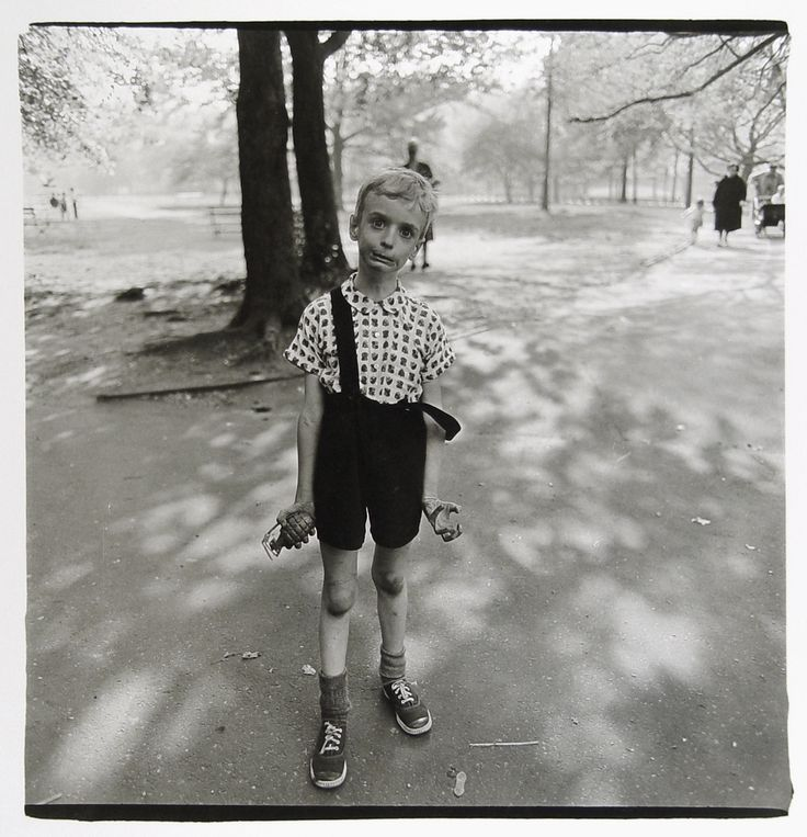 Diane Arbus: Child with Toy Hand Grenade in Central Park, New York City (1962)