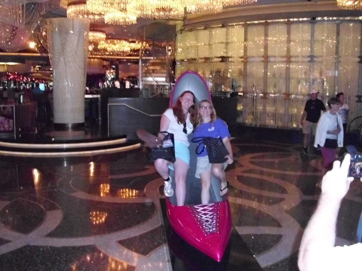 Me with Sarah in a #lasvegas shoe xxx http://www.wickfreecandles.net/