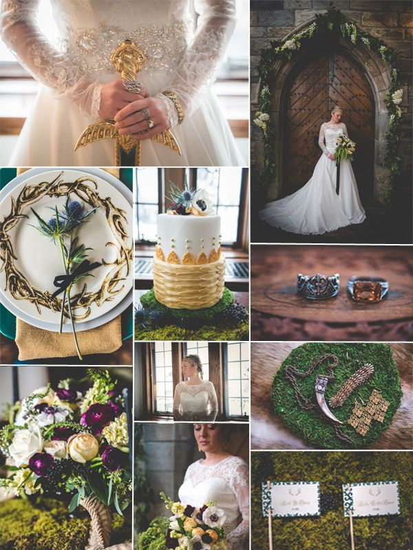 Movie wedding ideas - Fall wedding Ideas - Game of Thrones gold wedding inspiration - Tulleandchantilly.com