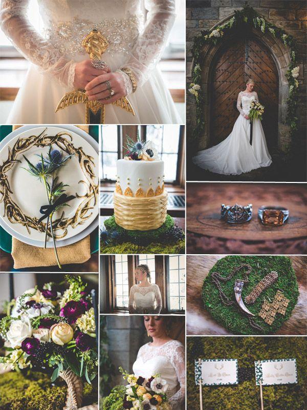 Movie wedding ideas - Fall wedding Ideas - Game of Thrones gold wedding inspiration - Tulleandchantilly.com