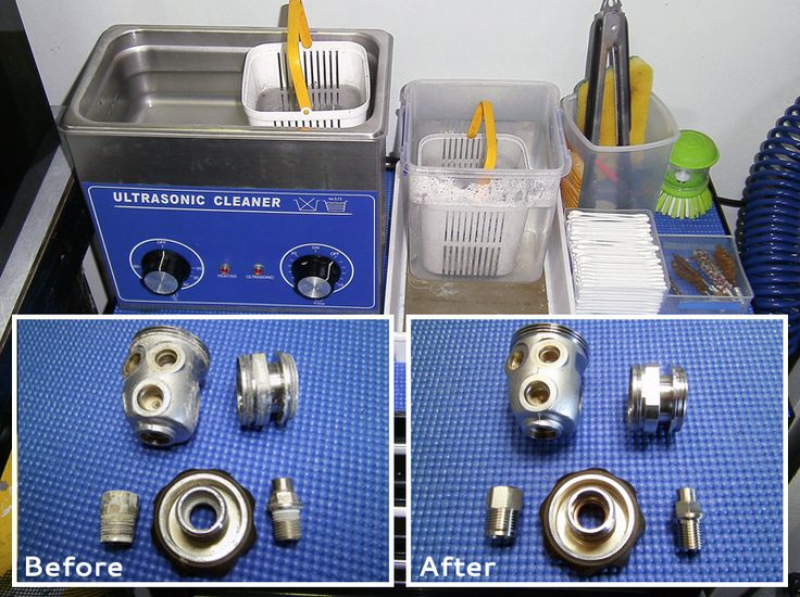 an ultrasonic cleaner is an effective tool for cleaning metal components of scuba regulators.