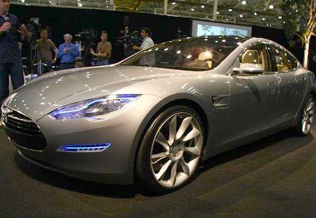 Tesla unveils seven-seater electric car concept Tesla Model S Sedan