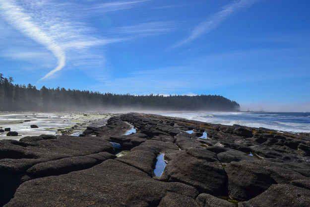 Le Sentier de la Côte-Ouest sur l'Île de Vancouver, Canada